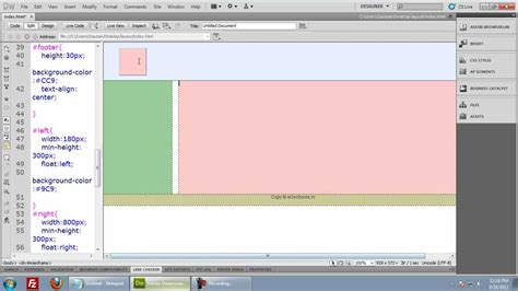creating a layout using css html css layout tutorial part2 www w3schools in youtube