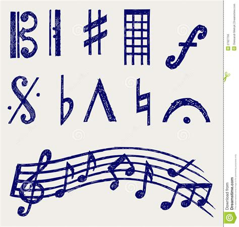 musical doodle free vector vector musical notes royalty free stock image image