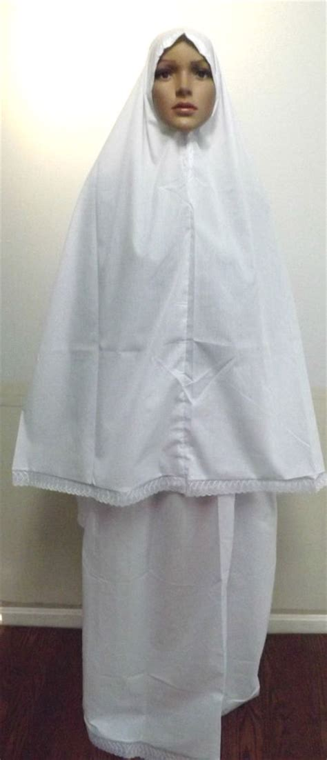 Outerwear Sweater Pakaian Wanita Muslim muslim s two prayer clothing white color ebay
