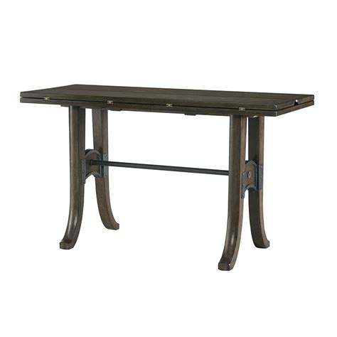 top table hammary treasures flip top console table beyond stores