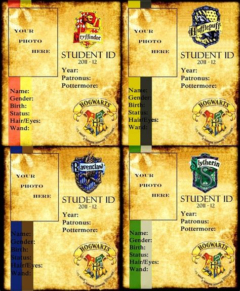 harry potter id card template archives bittorrentpatient