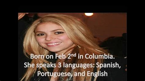 interesting facts about shakira biography shakira s life shakira biography shakira pictures