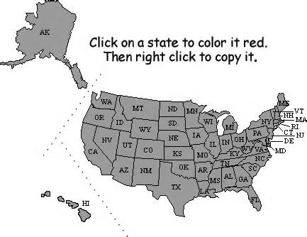 blank us map quiz capitals 50 us states