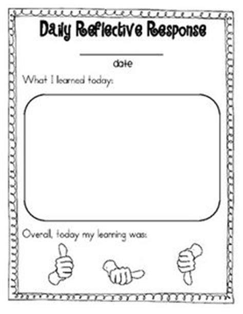 Daily & Weekly Reflective Response Sheets | Reflection