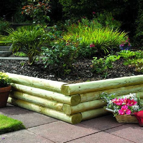 Rounded Garden Sleepers by Grange Rounded Garden Sleepers Pack Of 4 8ft