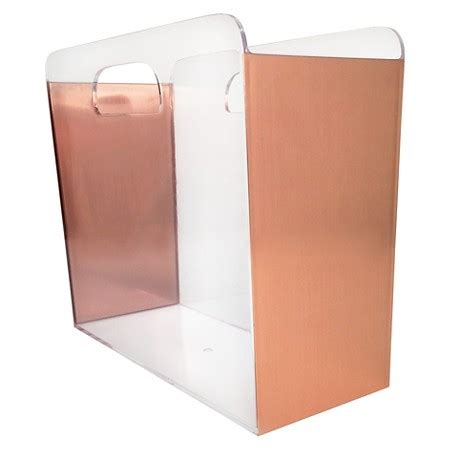 Drawer Desk Organizer File Box Clear With Copper Foil Sides Threshold Target