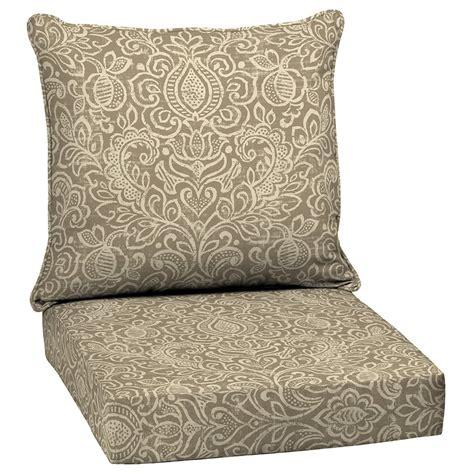 garden treasures neutral stencil  piece deep seating chair cushion set lowes canada