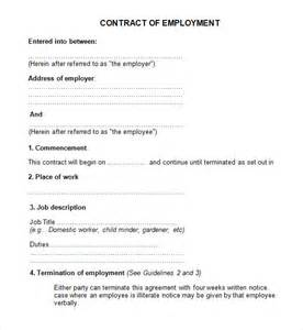 contract template doc employment contract 7 free pdf doc sle
