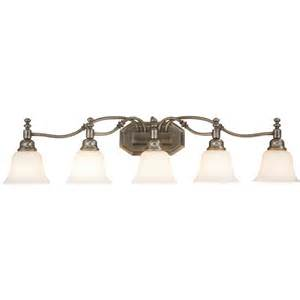 Bathroom Vanity Lighting Fixtures Lowes Bel Air Lighting Madonna 5 Light Antique Nickel Bathroom