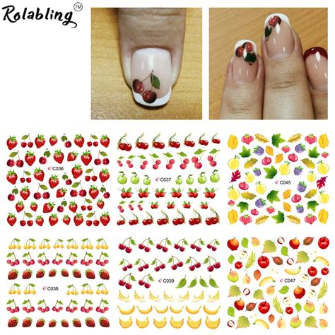 summer fruit purple banana water transfer nail sticker on finger nails stickers for nail