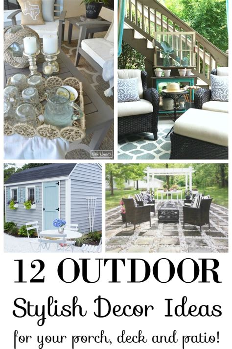 patio decor 12 stylish porch deck and patio decor ideas setting for