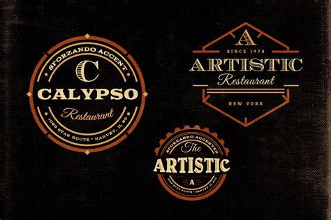 free retro logo templates free vintage logo templates