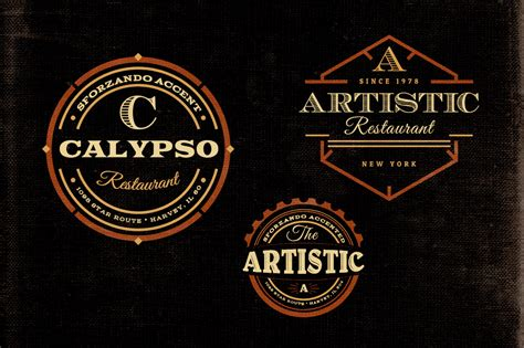 retro logo template psd free vintage logo templates