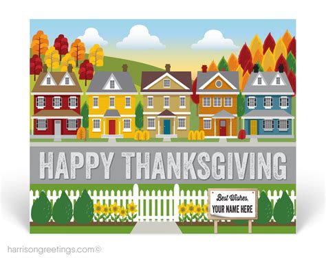 real estate thanksgiving postcard for realtors pctg233