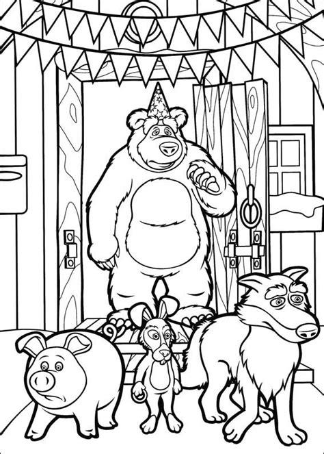 dibujos para colorear y imprimir para ni os dibujos para colorear para ni 241 os masha y el oso 1