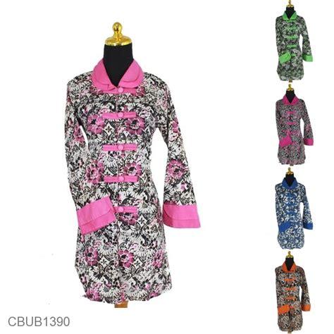 Blus Batik Lonceng Sogan 9 baju batik blus panjang katun motif sogan kembang warna blus lengan panjang murah batikunik