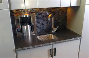Under Bench Sinks Wet Bar Coffee Maker And Sink Contemporary Dallas By