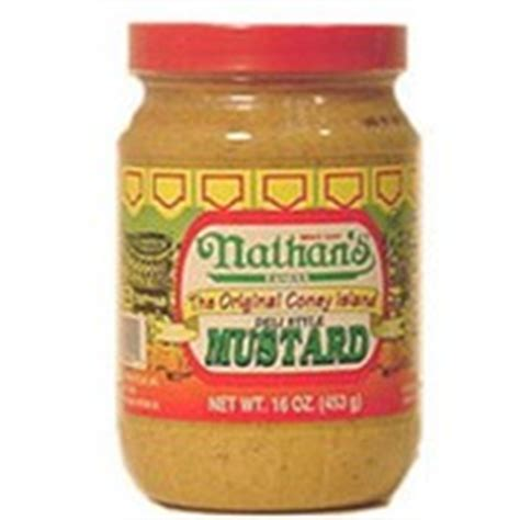 nathan s calories nathan s mustard deli style calories nutrition analysis more fooducate