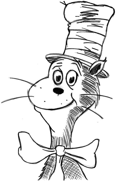 Drawing Dr Seuss The Cat In The Hat Coloring Page : Color Luna