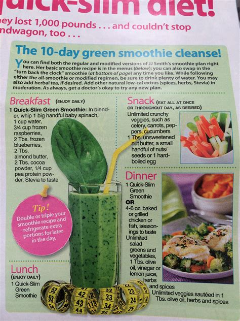 Jj Smith 21 Day Detox by 10 Day Green Smoothie Cleanse By Jj Smith 2014 Food List