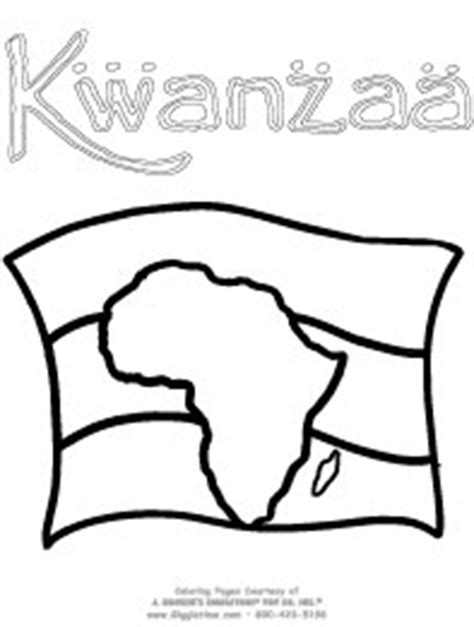 Kwanzaa Flag Coloring Page | kwanzaa coloring pages giggletimetoys com