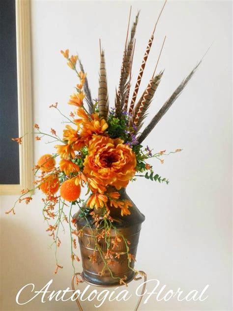 arreglos florales creativos en pinterest arreglos arreglo de flores artificiales con base vintage tonos