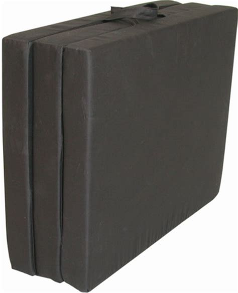 tri fold foam chair foam mat black