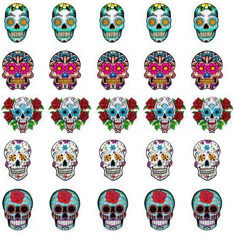 Sugar Skull Nail Stickers