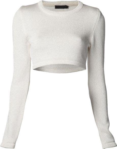 calvin klein knit sweater calvin klein knit sweater in white lyst