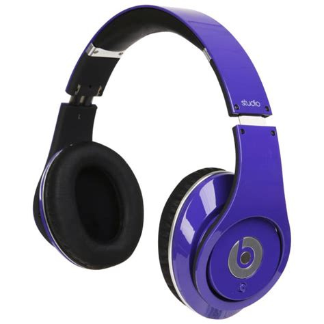 Headset Earphone Beats With Mic beats by dr dre studio noise cancelling hd headphones with microphone purple electronics zavvi