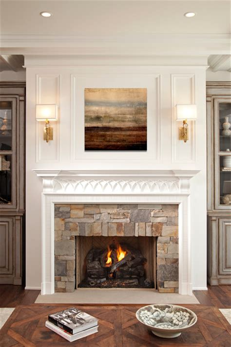 fireplace transitional minneapolis  hendel homes