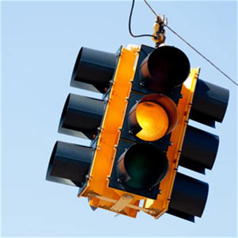 A Yellow Traffic Light Means by Traffic Engineers Intersection Bill Safety Concerns