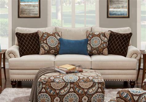 Anna White Linen Sofa   Louisville Overstock Warehouse