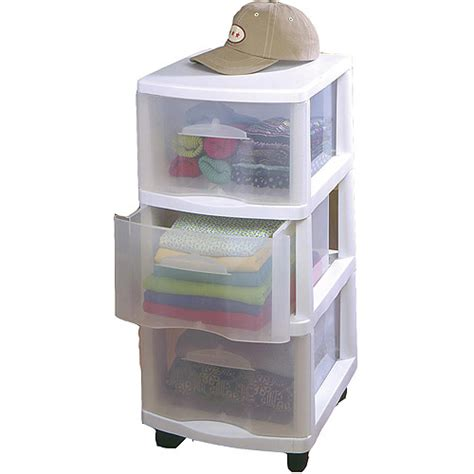 Three Drawer Storage Cart Home Products Medium Three Drawer Cart Walmart