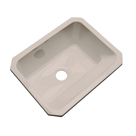 acrylic sinks at lowes shop dekor fawn beige undermount acrylic laundry at