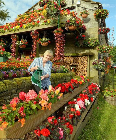 Blooming Beautiful Couple Spend Every Evening And Weekend House With Flower Garden