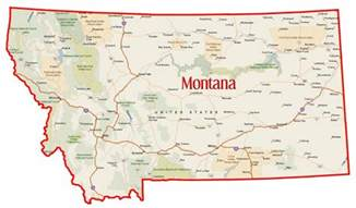 state of map with cities state montana quotes quotesgram