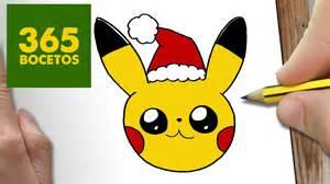 como dibujar pikachu navidad paso paso dibujos kawaii navide 241 os draw