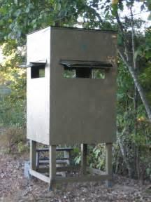 Hunt Box Floor Plans Poor Man S Hunting Box Blind Shooting House Build Plans