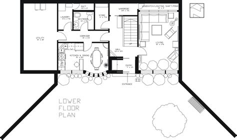 earth contact house plans earth sheltered passive home plan
