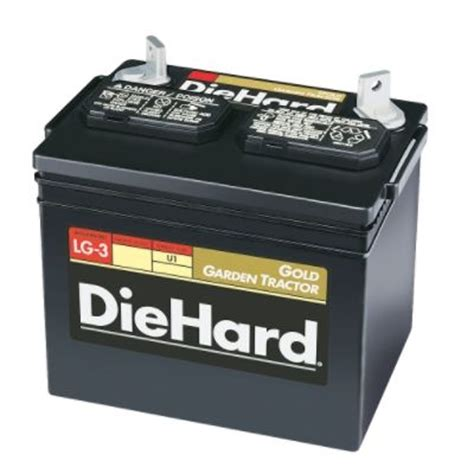 diehard gold garden tractor battery sizes u1 u1r by