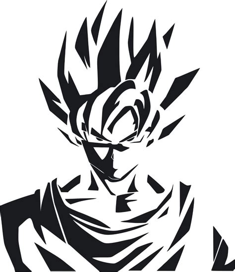 Stiker Logo Anime Vinly Glossy z logo saiyan goku anime vinyl die cut decal sticker ebay