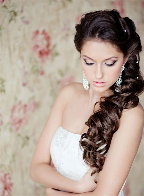 bridal hairstyles down to the side side swept wedding hairstyles to inspire mon cheri bridals