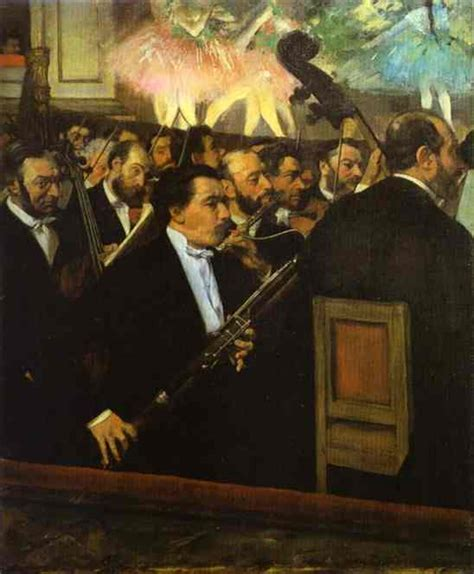 famous house painters the orchestra at the opera house edgar degas painting