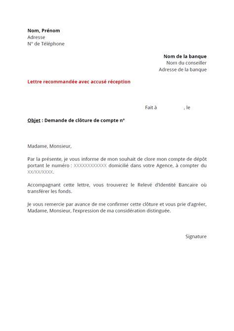 Lettre De Résiliation De Virement Permanent lettre de r 233 siliation banque postale contrat de travail 2018