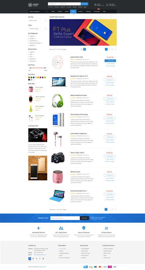 wordpress theme list categories hanoistore supermarket responsive wooecommerce wordpress