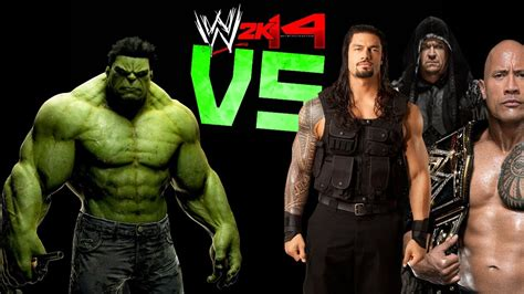 rock and roman reigns wwe 2k14 hulk vs roman reigns the rock the undertaker