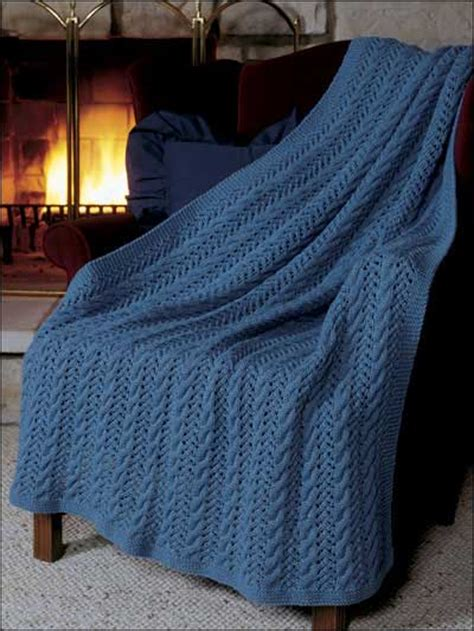 pattern for knitted afghan free eyelet lace afghan