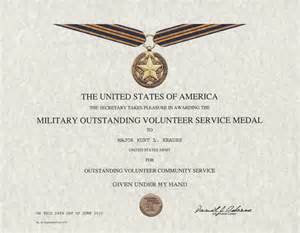 Movsm Template by Outstanding Volunteer Service Medal