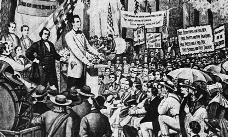 college lincoln douglas debate on this day lincoln and douglas hold debate